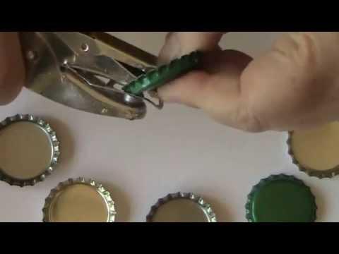 Prepare a Bottle Cap to Make a Resin Pendant