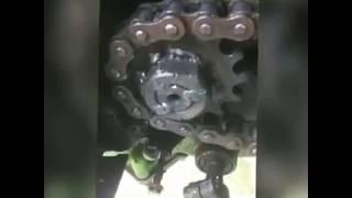 Mengatasi poros gear depan Aus. Biaya menipis, solusinya di las listrik