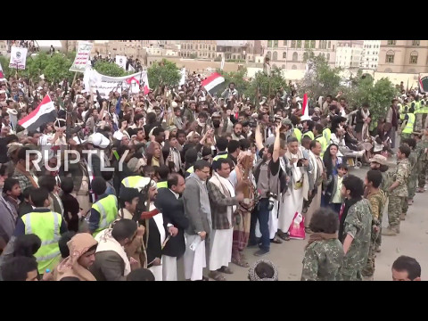 Yemen: 1000s of protesters condemn US and Saudi-led coalition in Sanaa