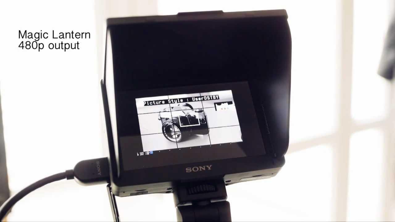 Sony CLM-V55 on Canon 5D Mark II: normal 1080i vs Magic Lantern 480p