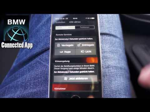BMW Connected APP - REMOTE Funktionen / Navi Ziele vom Handy ans Auto senden