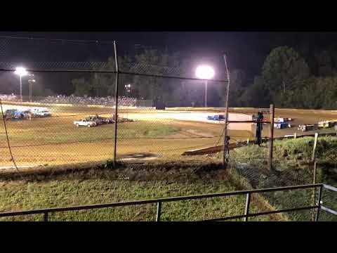 Tyler county speedway late model roll over