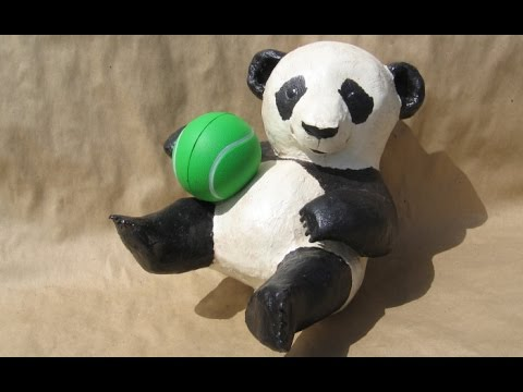 How to Make a Baby Paper Mache Panda