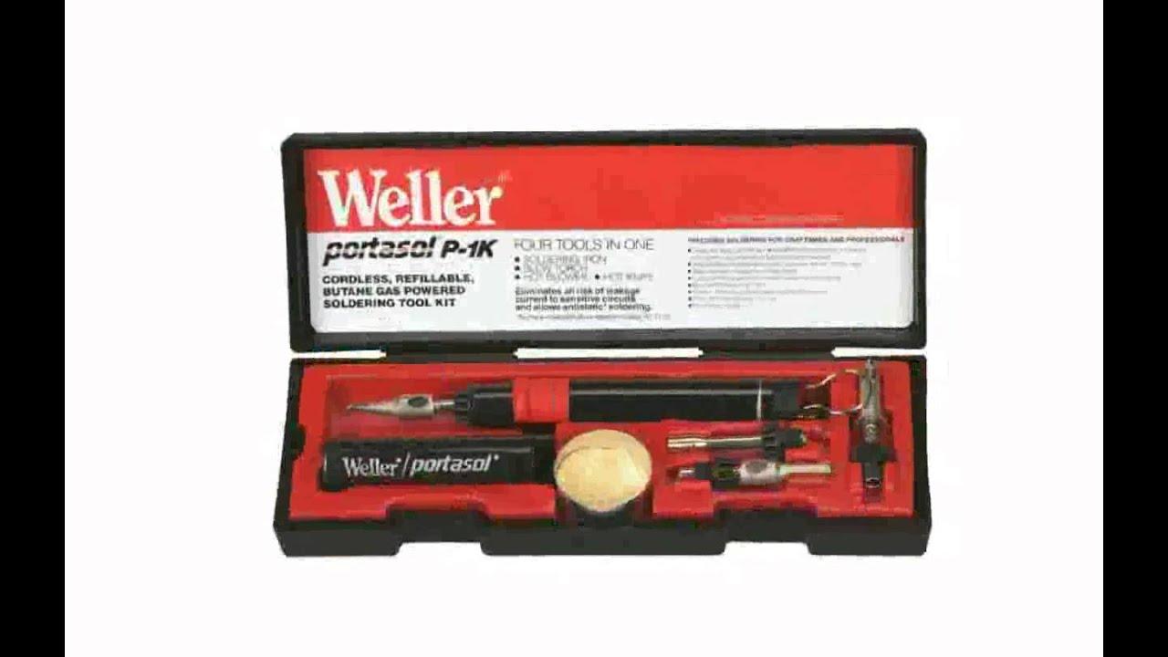 weller p 1kc pocket butane soldering iron kit youtube. Black Bedroom Furniture Sets. Home Design Ideas