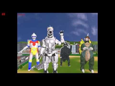 MMD MechaGodzilla, Gigan, Anguirus, and Jet Jaguar dance to Caramelldansen