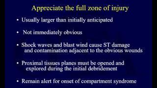 Orthopaedic Blast Injuries - Treatment Principles (OTA Lecture Series IV D0d)