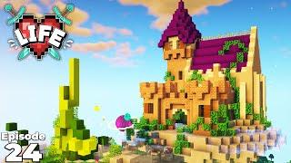 X Life : FINISHING Jacks Beanstalk Castle Base : Ep 24 Minecraft Modded Survival