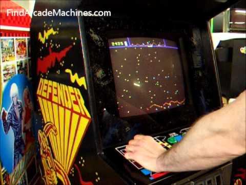 Williams Defender Arcade Machine Sound Test while looking inside ...