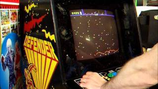 Williams Defender Arcade Machine Sound Test while looking inside and game test