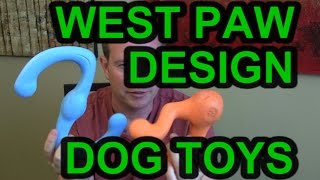 West Paw Design Durable Dog Toys Review and Demo Fetch Tug-O-War