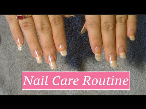 Long Natural Nails: Care Routine - YouTube