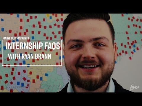 Maine GOP Presents: Internship FAQs with Ryan Brann