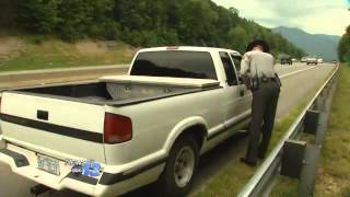 Video: Trooper Almost hit by Semi