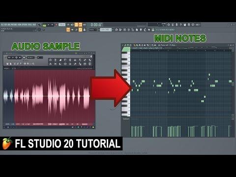 How To Convert Audio To Midi In FL Studio