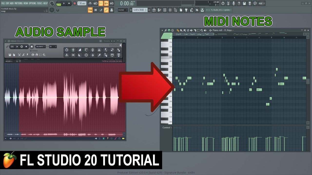 How To Transpose In Fl Studio 20 Notes Arrangements Youtube