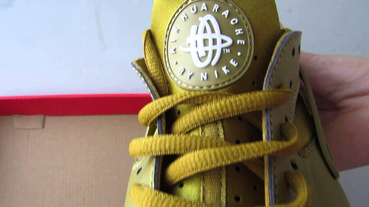 bba46ef08082 Nike Air Huarache Run Bronzine White Bronze Gold - YouTube