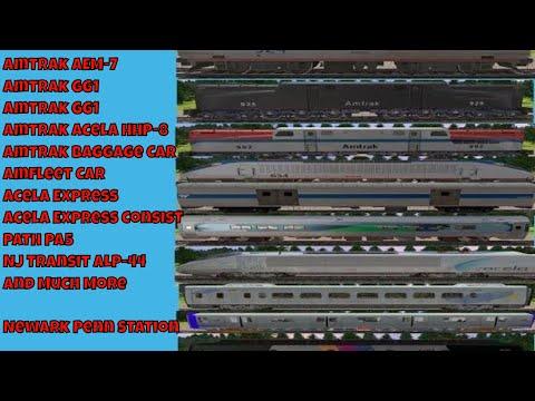 Trainz Railfanning Pt 146: Newark Penn Station Railfanning, Amtrak, PATH, NJ Transit