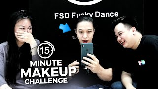15 MINUTE MAKE UP CHALLENGE WITH DJ LOONYO