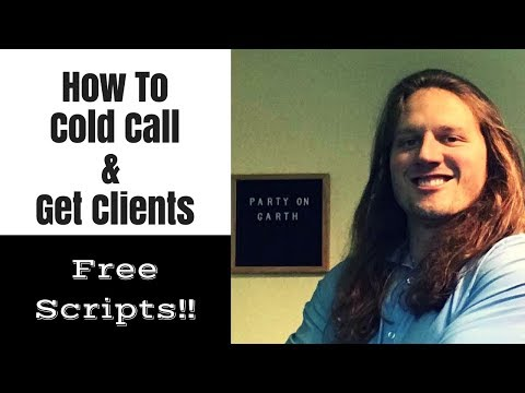 How to Cold Call, Cold Email Social Media Marketing Clients & Set Meetings   FREE SCRIPTS!!