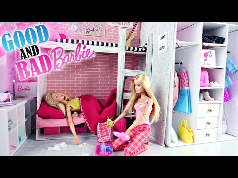 Mauvaise Barbie et Bonne Barbie font leurs valises l Good & Bad Barbie packs suitscases for holidays