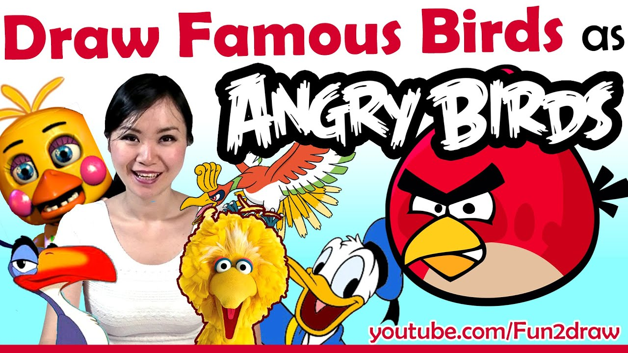 Drawing Angry Birds Movie: Artist Draw Movie + Game Birds As ANGRY BIRDS!