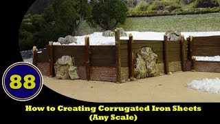 How to - Create Corrugated Iron Sheets - (Any Scale)