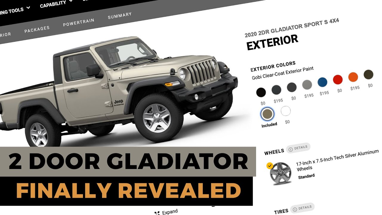2021 2 Door Jeep Gladiator Has Finally Been Revealed Youtube