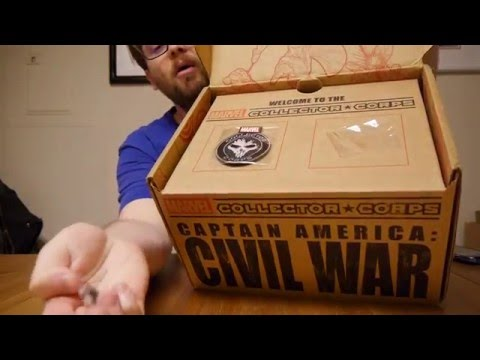 Unboxing: Marvel Collector Corps April 2016 Civil War