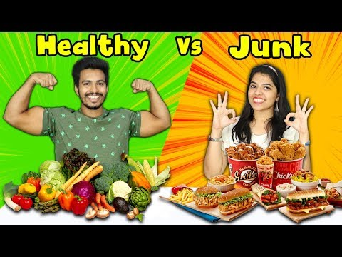 Healthy Food Vs Junk Food Challenge | Hungry Birds