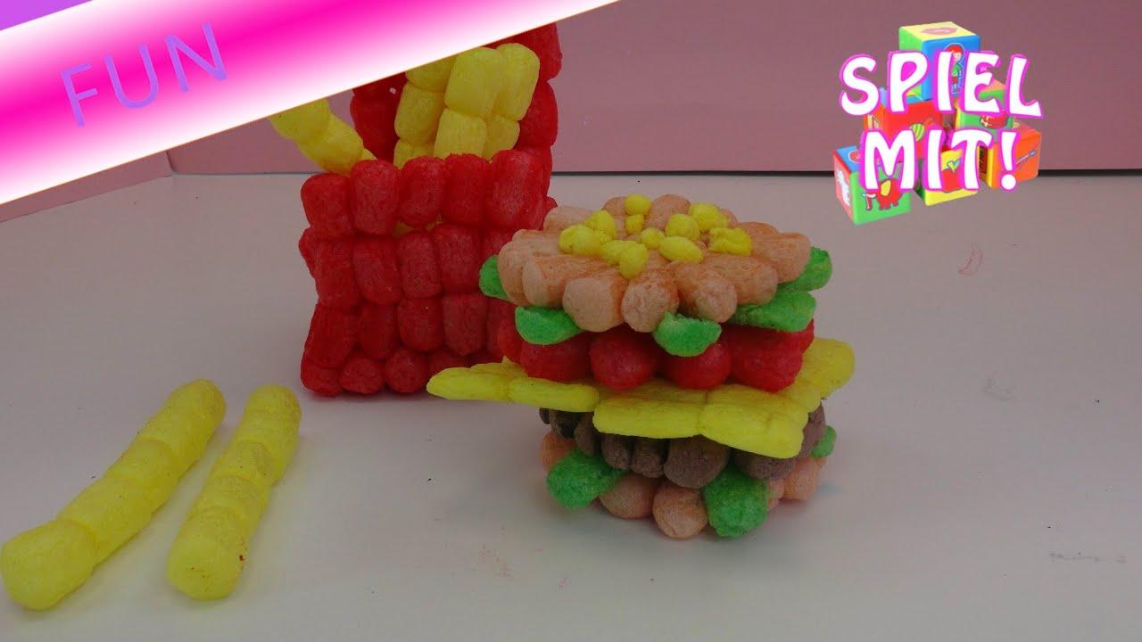 playmais burger men mit pommes frites basteln bauen mit playmais deutsch youtube. Black Bedroom Furniture Sets. Home Design Ideas