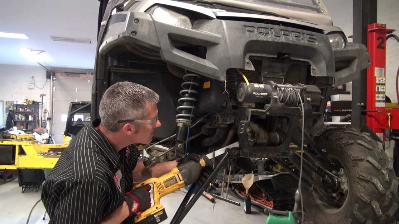 hight resolution of polaris ranger front suspension and wheel bearing rebuild powermodz youtube
