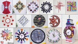 27 Handmade Diy Wall Clock Making From Waste Items !!!