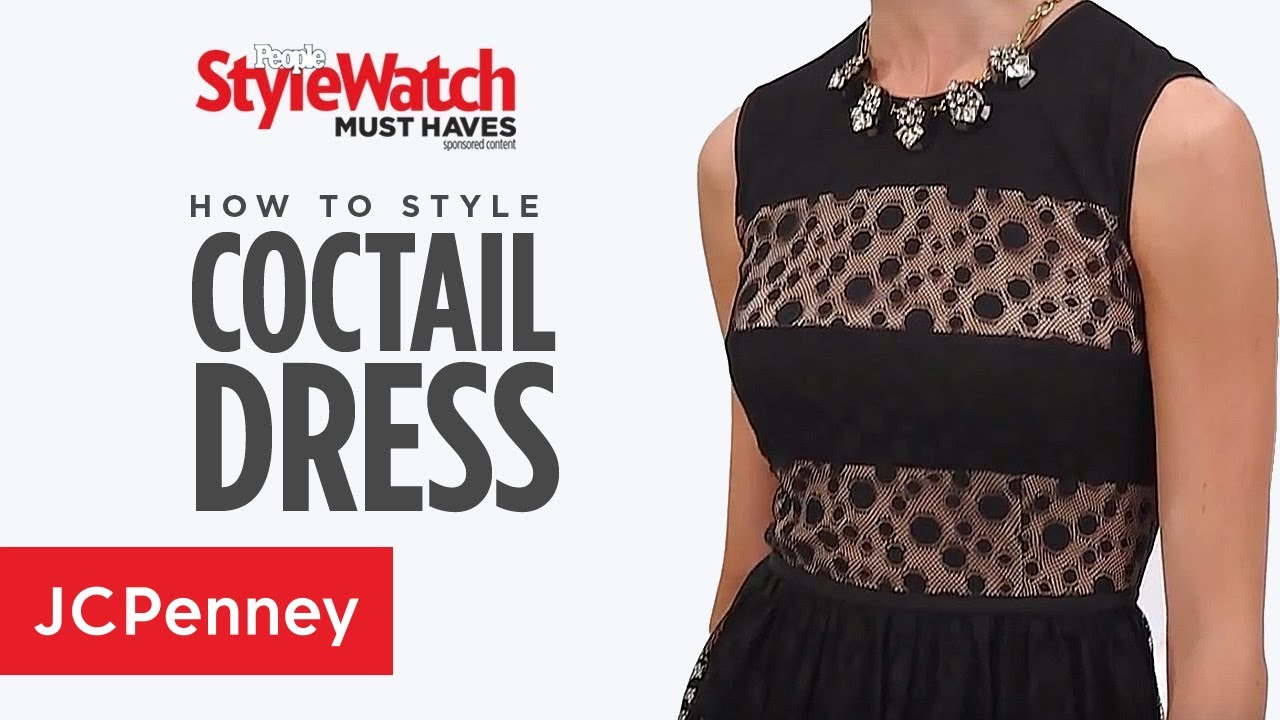 How To Wear A Cocktail Dress Going Out Dress Styles Jcpenney