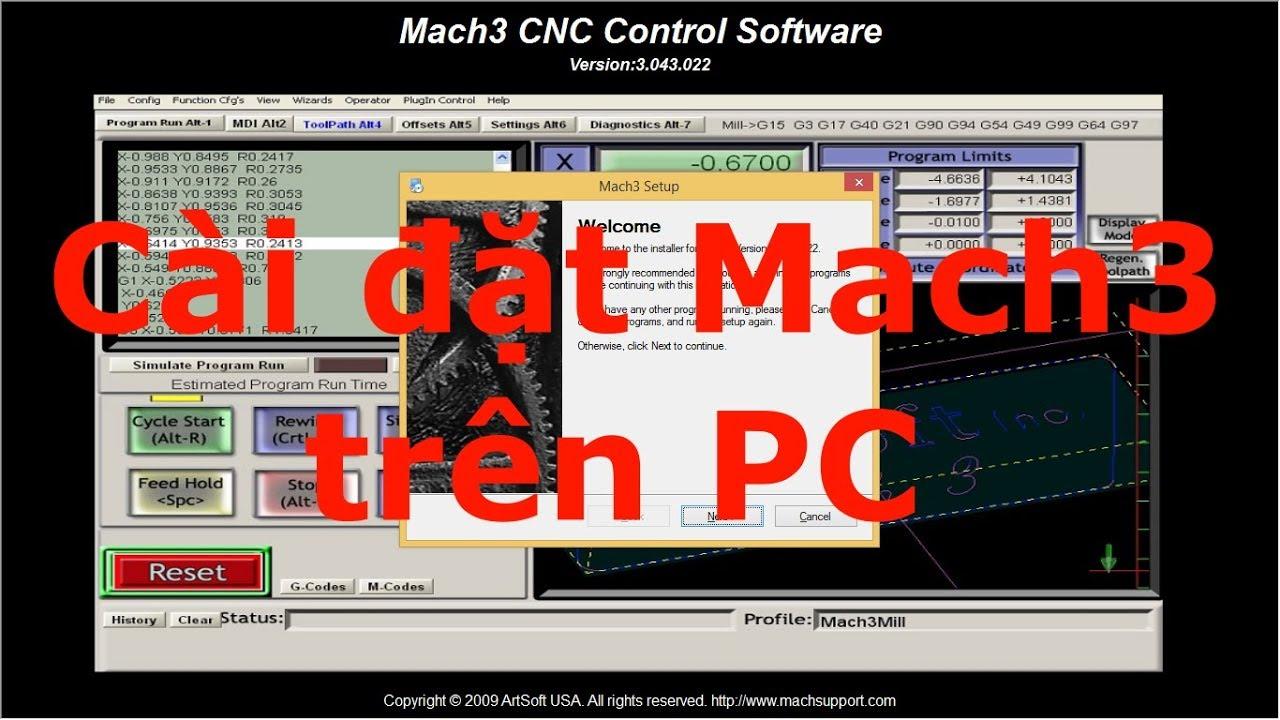 Hướng dẫn chi tiết cài đặt & thông số Mach3
