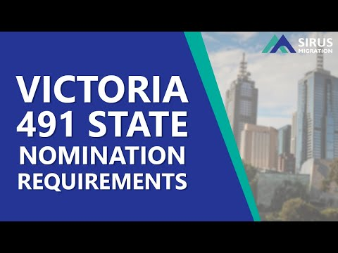 VICTORIA 491 STATE NOMINATION REQUIREMENTS