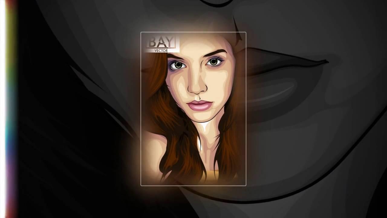 Line Art Wajah : Pesan vector wajah line art murah youtube