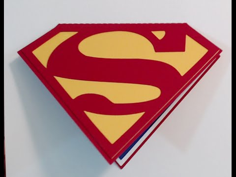 Superman Birthday Invitations Card Tutorial Silhouette Cameo