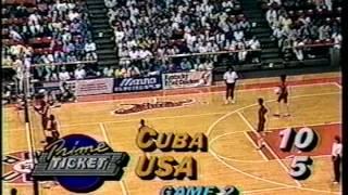 USA Women's Volleyball vs Cuba 1987 Yugo Cup