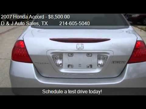 2007 Honda Accord VP Sedan AT - for sale in Dallas, TX 75212