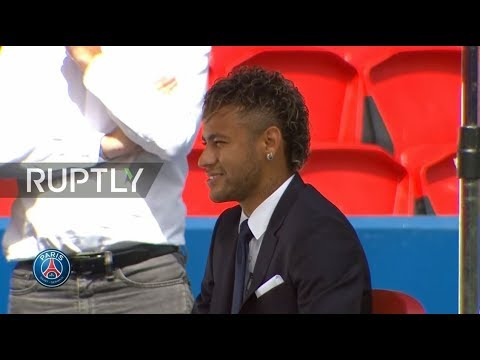 LIVE: Neymar holds press conference following deal to join PSG