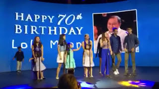 Our Lolo Manny's 70th BIRTHDAY song
