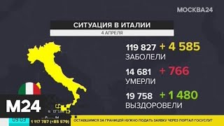 Италия занимает первое место почислу жертв коронавируса - Москва 24