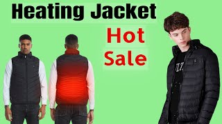 Heating Jacket, Carbon Fiber Electric Thermal Clothing Jacket for Mens & Womens