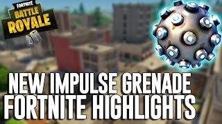 New Impulse Grenade!! Fortnite Battle Royale Highlights - Ninja