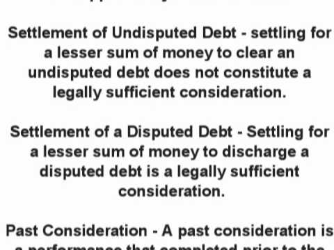 Considerations Contract Law What Is The Definition What Are
