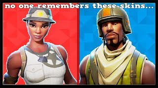 15 MOST FORGOTTEN SKINS In FORTNITE! (You Forgot About These Skins!)