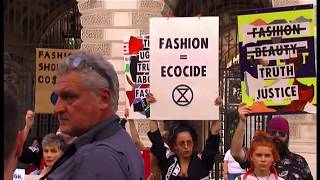 Extinction Rebellion at Victoria Beckham fashion show (41) (UK) BBC News 15th September 2019