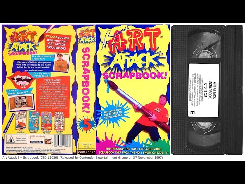 Art Attack  Scrapbook VHS 1997