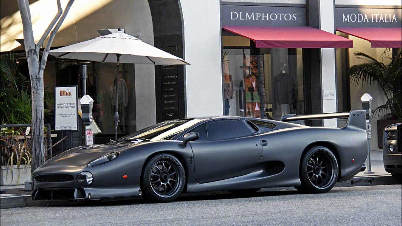MATTE GREY JAGUAR XJ220S! INSANELY LOUD! 1 OF 5 IN THE ...