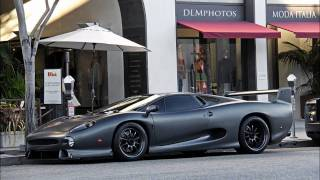 MATTE GREY JAGUAR XJ220S PARKING IN BEVERLY HILLS!!! 1 OF 5 IN THE WORLD!!!